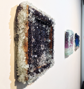 Kristin Schattenfield-Rein The Liminal Gates Glass, Resin, Interference Powder & Acrylic Ink on Birch Panel