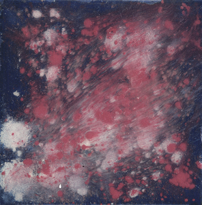 Kristin Schattenfield-Rein We Are All Made Of Stars Oil, Interference, Enamel, Resin on Canvas
