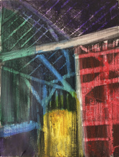 KURT LIGHTNER Cathedrals of Work Acrylic on gessoed waterolor paper