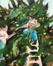 KURT LIGHTNER Fruit Pickers Acrylic on Canvas