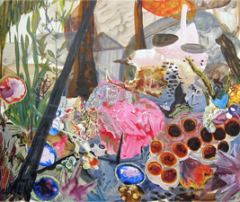 KURT LIGHTNER Collage Landscapes 2004-06 Acrylic ink on Mylar collaged on to watercolor paper