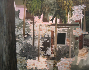 KURT LIGHTNER Collage Landscapes 2004-06 Acrylic ink on Mylar collaged on watercolor paper mounted on panel