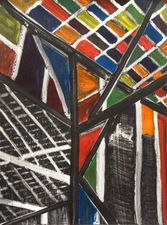 KURT LIGHTNER Cathedrals of Work Series Acrylic on gessoed watercolor paper