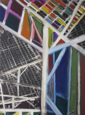 KURT LIGHTNER Cathedrals of Work  Acrylic on Canvas