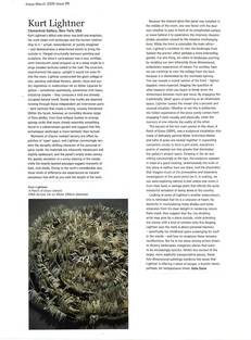 KURT LIGHTNER Frieze Review Solo Show Clementine Gallery 2005