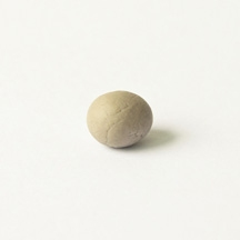 A skin ball (exfoliated skin collected from my mother and me while scrubbing our backs)