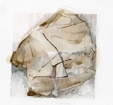 Leigh Ann Hallberg Cereal Bag Books and Drawings Ink, Graphite, Color Pencil, on Paper