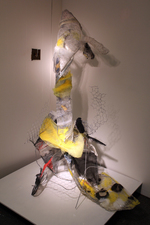 Larry Dell Metal/Fabric Sculpture fabric, chicken wire, steel wire, transparent tape, paint, plastic