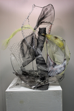 Larry Dell Metal/Fabric Sculpture Fabric, tranparent tape, chicken wire, steel wire, paint