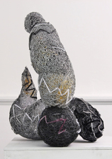 Larry Dell Metal/Fabric Sculpture Chicken Wire, Steel Wire, Fabric