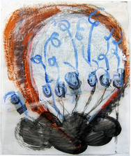 Laura Bell Selected Mixed-Media Works Acrylic, charcoal, and photos (birdfeeders) on vellum tracing paper