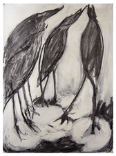 Laura Bell Selected Drawings Charcoal and gesso on paper