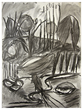 Laura Bell Selected Drawings Charcoal on gessoed paper