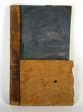 "Laura Bell Selected ""Books"" series Fired glazed clay and found wood"