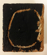 "Laura Bell Selected ""Books"" series Acrylic and carving on found wood"