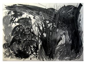 Laura Bell Selected Mixed Media and Paintings on Paper Pencil and black glue on paper