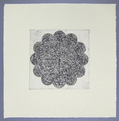 LAURA SUE KING ink etching and chine colle