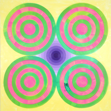 LAURA SUE KING more targets acrylic and Flashe on canvas