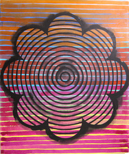 LAURA SUE KING more targets acrylic on canvas