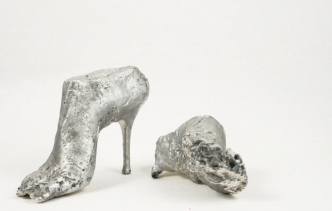 Fossilized High Heeled Feet