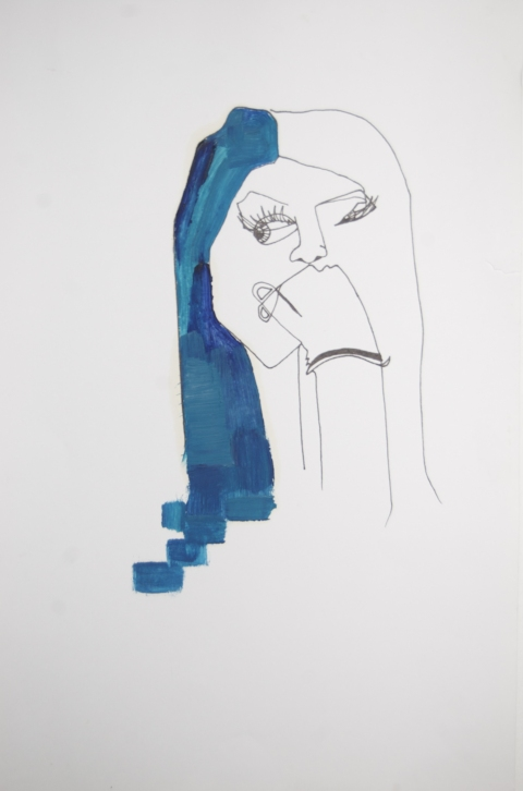 Drawing/ Collage Blue