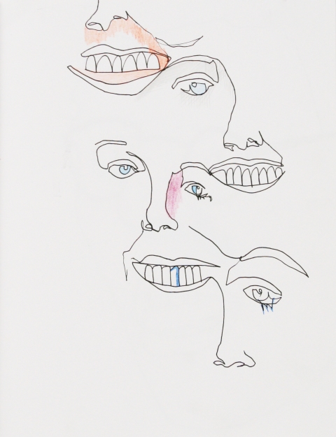 Drawing/ Collage Noses Smelling Noses