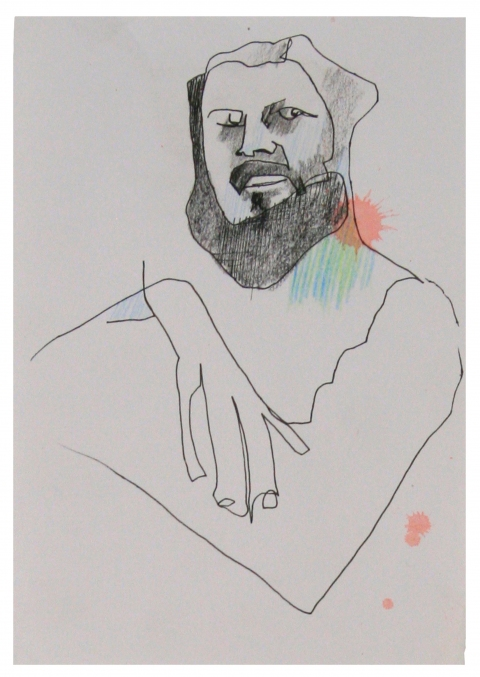 Drawing/ Collage Untitled (Man)