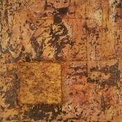 Lauren Cifranic 2017 Encaustic, oil paint, and needles on constructed wooden panel