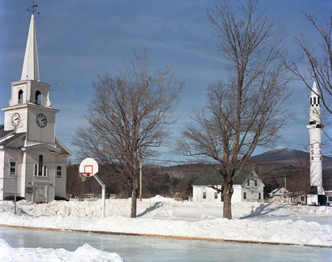 "COLLECTIVE SPACE ""Church and Redstone Missile, Winter"" Warren, New Hampshire"
