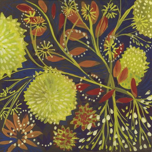 Laurie Olinder Flora gouache  on paper