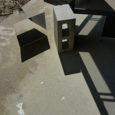 Leah Cooper Cinder block drawings