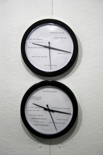 leah floyd my favorite time, my favorite hour altered clocks
