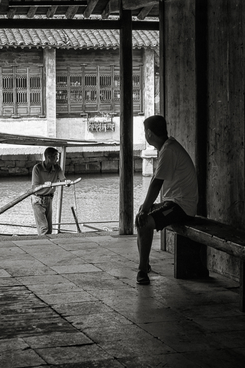 Finding Wuzhen J01-017 Man Resting after Work