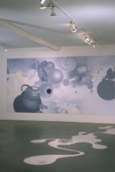 Leona Christie wall drawings / installations latex paint, mylar, plexiglass,                                  foamcore