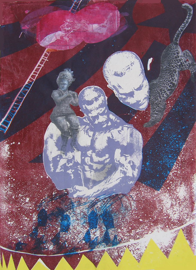 PRINTMAKING  Mr. Muscles' Visitation
