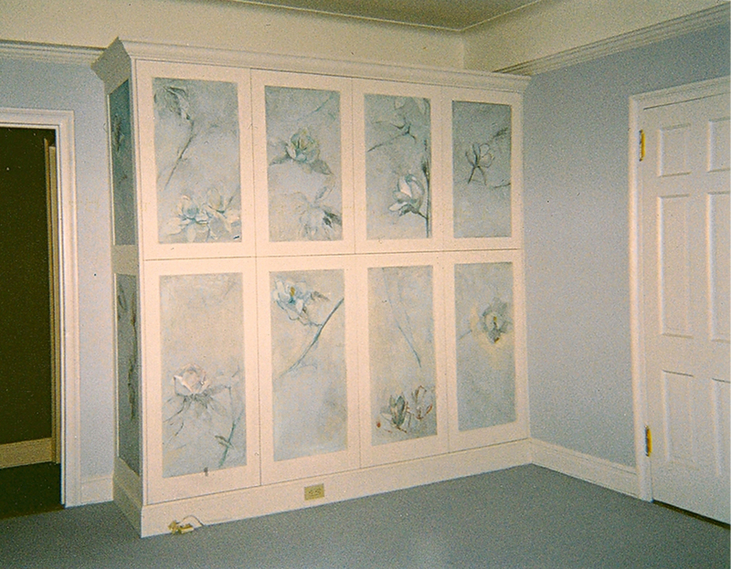 DECORATIVE FINISHES AND MURALS Built-in armoire, private residence, Manhattan, NY