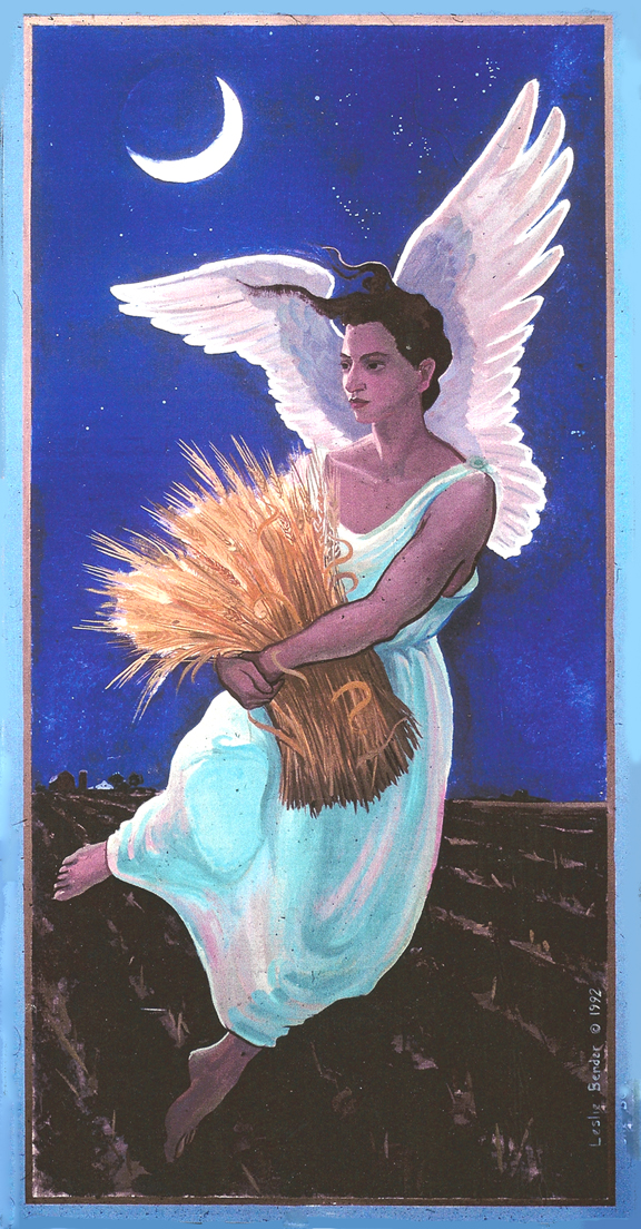 DECORATIVE FINISHES AND MURALS Night Angel with Wheat