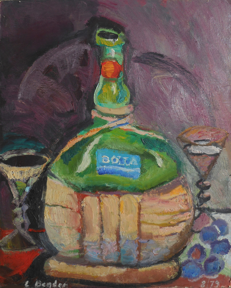STILL LIFE Bolla 1979 oil 14 x 11.5