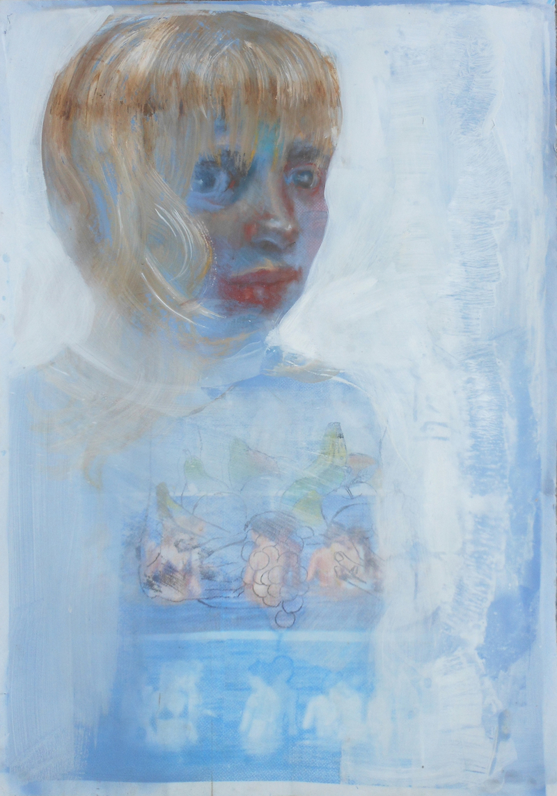 RECENT WORK Paintings and Drawings Self Portrait As a Blonde (with Sea Plums)
