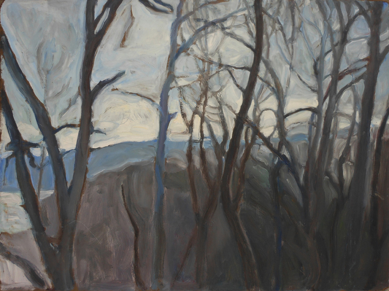 LANDSCAPES Aching Heart, Winter Sky oil/canvas