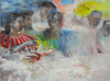 COLLECTIVE CONSCIOUSNESS;            Carnivale / Restaurant  acrylic, graphite, pastel /paper