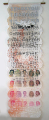 SOCIAL CONSCIOUSNESS Silkscreen on Asian paper, bamboo rods, cord
