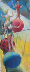 CIRCUS oil on canvas
