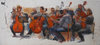 ORCHESTRA and MUSICIANS oil on canvas