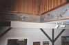 DECORATIVE FINISHES AND MURALS acrylic paint on wood soffit