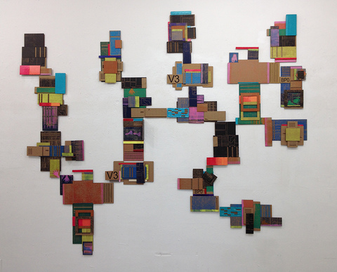 Leslie Kerby (NEW) Containments Sculpture | Video | Installation Cardboard, oil