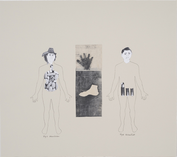 Leslie Kerby (NEW) The Laying On of Hands Mixed Media Collage