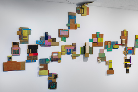 Leslie Kerby (NEW) Containments Sculpture | Video | Installation Cardboard with Oil and Acrylic