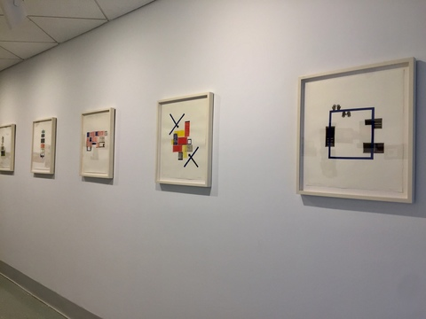 Leslie Kerby (NEW) Containments Sculpture | Video | Installation Monoprint collages with Linocut, Etching & Chine Collé