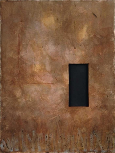 Leslie Shaw Zadoian Constructed Space Acrylic and cardboard on canvas